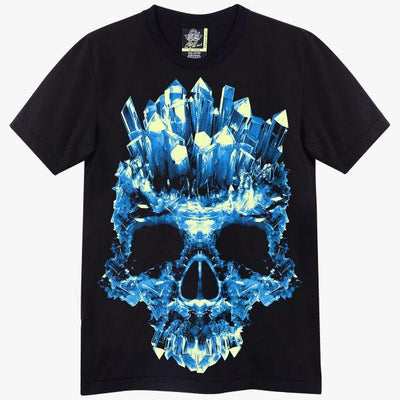 Blue Ice Skull Rock T-shirt - Apache Concept Store