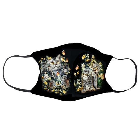 Cat Flowers Face Mask - Apache Concept Store