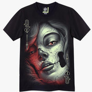 Queen of Hearts Catrina T shirt - Apache Concept Store