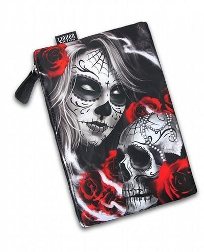 Eternal Bliss Sugar Skull Liquorbrand Cosmetic Bag - Apache Concept Store