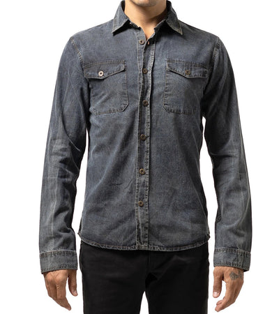 Chambray Stone Washed Denim Shirt - Apache Concept Store