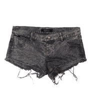 Black Stone Washed Denim Short - Apache Concept Store