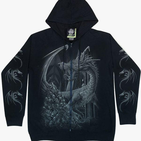 Dragon Hoodie Skull Glow in the Dark - Apache Concept Store