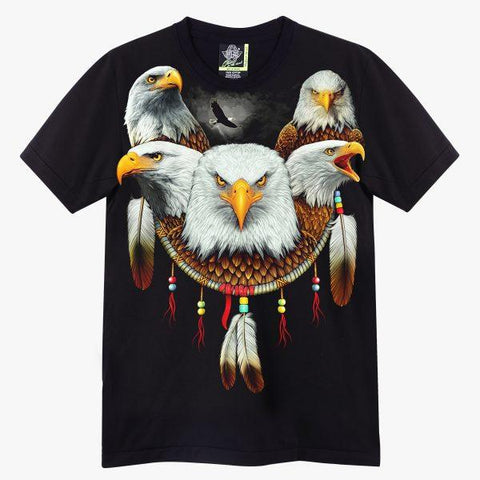 Eagles Feather Dream Catcher T-shirt - Apache Concept Store