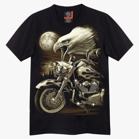 Rock Eagle Custom Bike T-Shirt - Apache Concept Store
