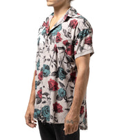 Full Print Rose Hawaiian Shirt - Apache Concept Store