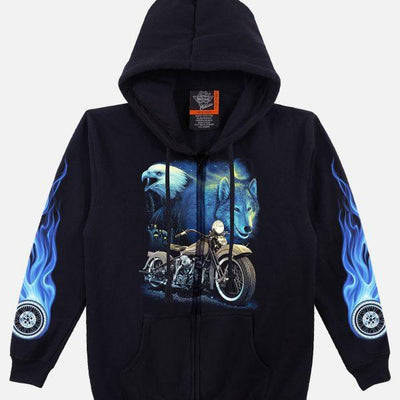 Eagle Wolf Motorcycle Hoodie - Apache Concept Store