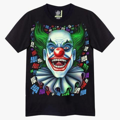 Crazy Joker Clown T shirt - Apache Concept Store