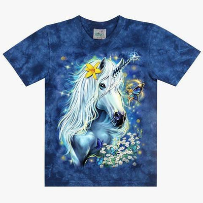 Kids Blue Unicorn T-shirt - Apache Concept Store