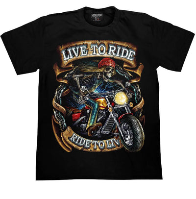 Skull Motorcycle T-shirt - Apache Concept Store