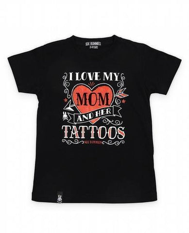 Love my Mom Tattoos Kids T-shirt - Apache Concept Store