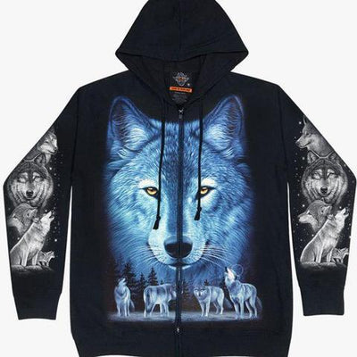 Nature Wolf Hoodie Unisex - Apache Concept Store