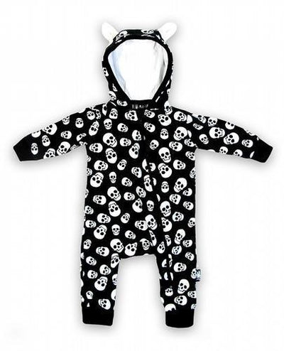 Polka Skulls Baby Playsuit - Apache Concept Store