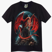 Red Dragon Moon T-shirt - Apache Concept Store