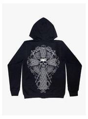 Skull Hoodie Axe and Cross - Apache Concept Store