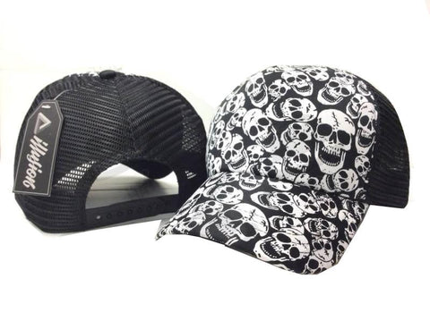 Skulls Black and White Cap - Apache Concept Store
