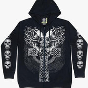 Skull Cross Unisex Gothic Hoodie - Apache Concept Store