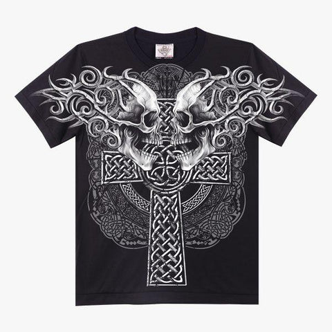 Skull and Cross T-shirt - Apache Concept Store
