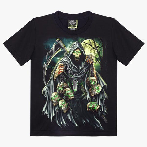 Skull Axe in The Night T-shirt - Apache Concept Store