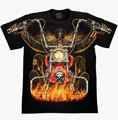 Skull Ghost Rider T-shirt - Apache Concept Store