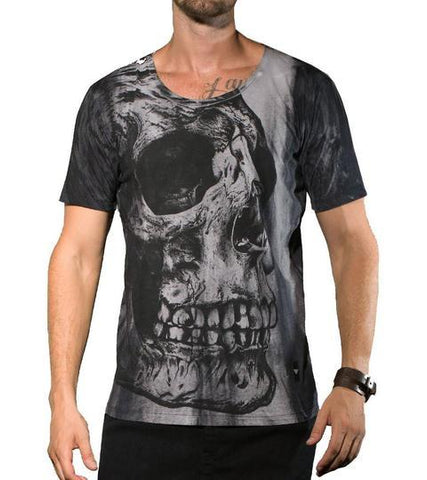 Grey Skull T shirt - Apache Concept Store