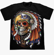 Old Indian Skull T-shirt - Apache Concept Store