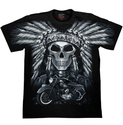 Skull Indian Motorcycle T-shirt - Apache Concept Store