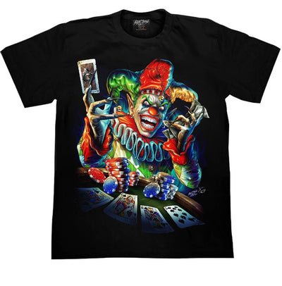 Clown Joker Poker T shirt - Apache Concept Store