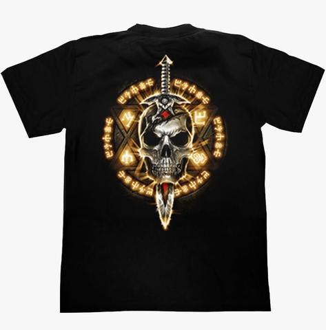 Skull Three Axes T-shirt - Apache Concept Store
