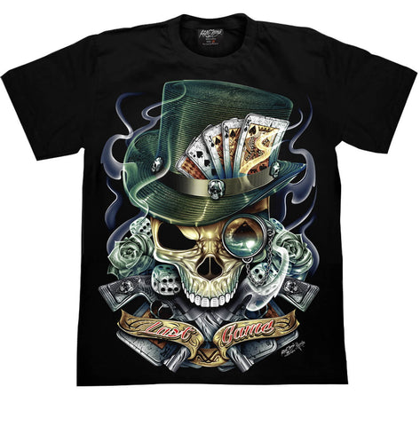 Skull Last Game Cards T-shirt - Apache Concept Store