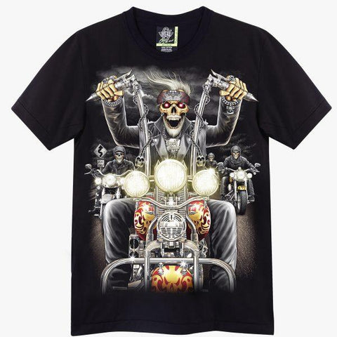 Skull Riding a Chopper T-shirt - Apache Concept Store