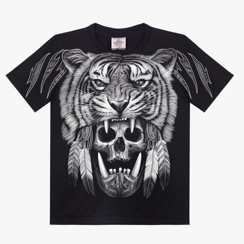 Skull Tiger T-shirt - Apache Concept Store