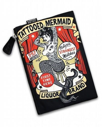 Tattooed Mermaid Liquorbrand Cosmetic Bag - Apache Concept Store