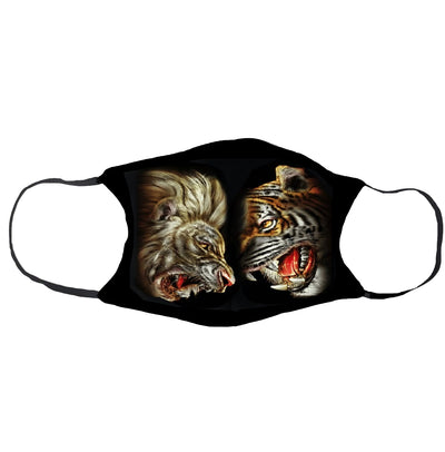 Lion VS Tiger Face Mask - Apache Concept Store