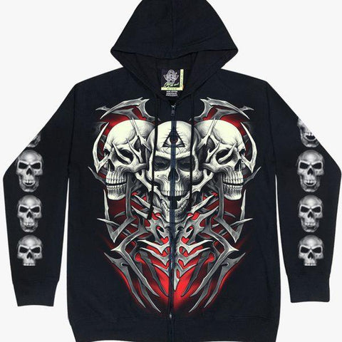 Trio Skeleton Hoodie Glow in the Dark - Apache Concept Store