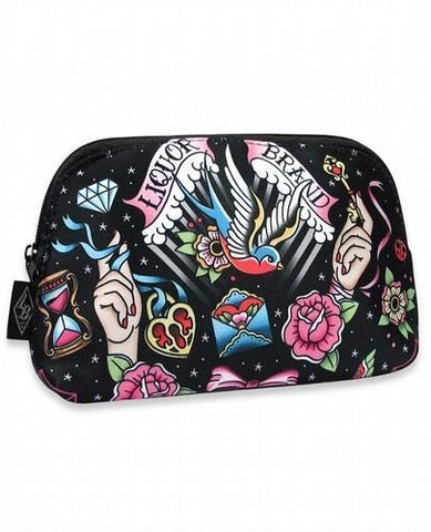 True Love Tattoo Style Liquorbrand Cosmetic Bag - Apache Concept Store
