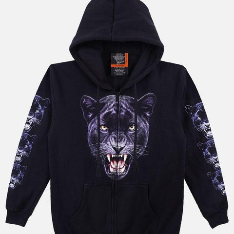 The Panther Black Hoodie - Apache Concept Store