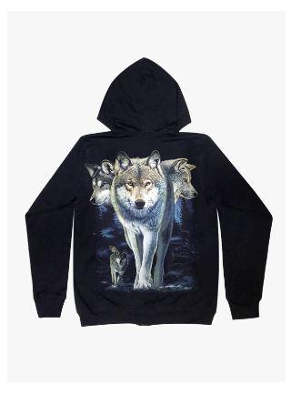 Grey Wolf Hoodie - Apache Concept Store