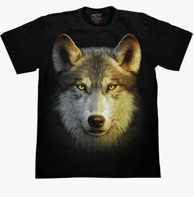 Wolf Big Face Rock T-shirt - Apache Concept Store