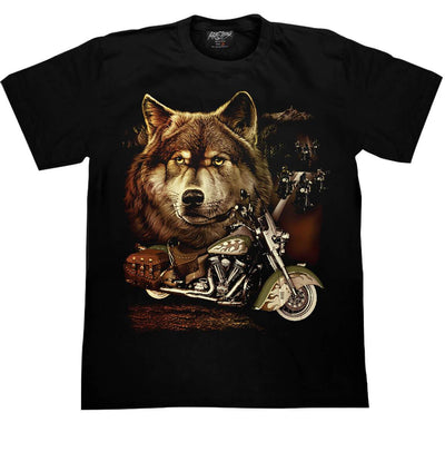 Wolf Motorcycle T shirt - Apache Concept Store