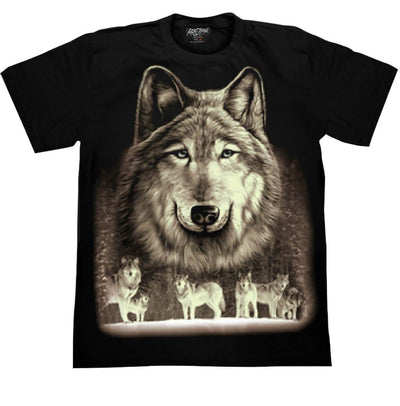 Wolf Blue Eyes T shirt - Apache Concept Store