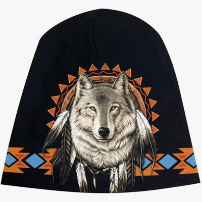 Indian Wolf Beanie - Apache Concept Store