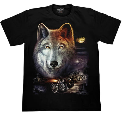 Wolf Bikers on the Road T shirt - Apache Concept Store