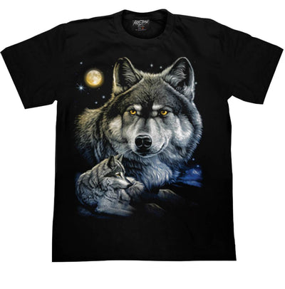 Wolf Face Moon T-shirt - Apache Concept Store