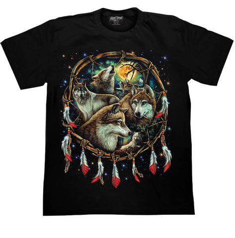 Wolves Howling at the Moon T shirt - Apache Concept Store