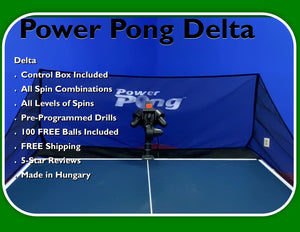 Power Pong DELTA Table Tennis Robot (ETA 3/8/21)
