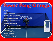 Load image into Gallery viewer, Power Pong OMEGA Table Tennis Robot (ETA 3/8/21)