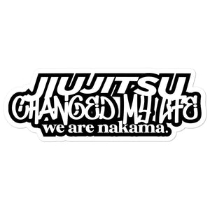 JiuJitsu Changed My Life sticker