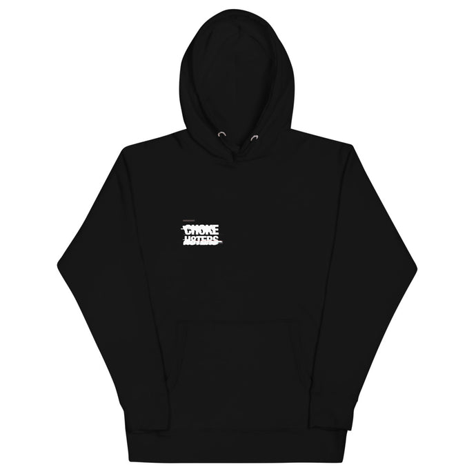 CHOKE H8TERS Glitch & Anarchy Unisex Hoodie in Black