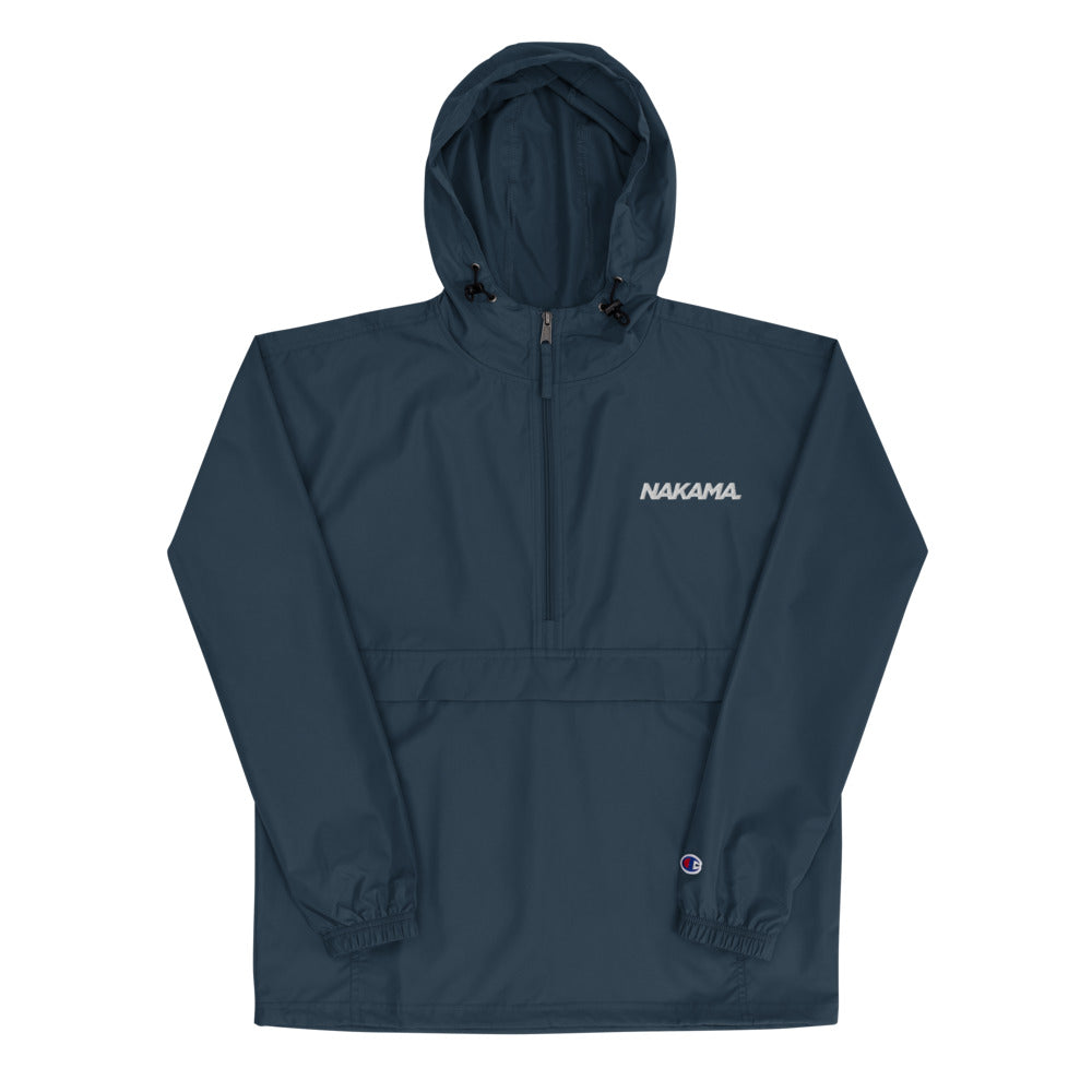 NAKAMA Embroidered Champion Packable Jacket (Navy)